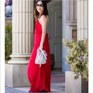 Zara Red Maxi Dress
